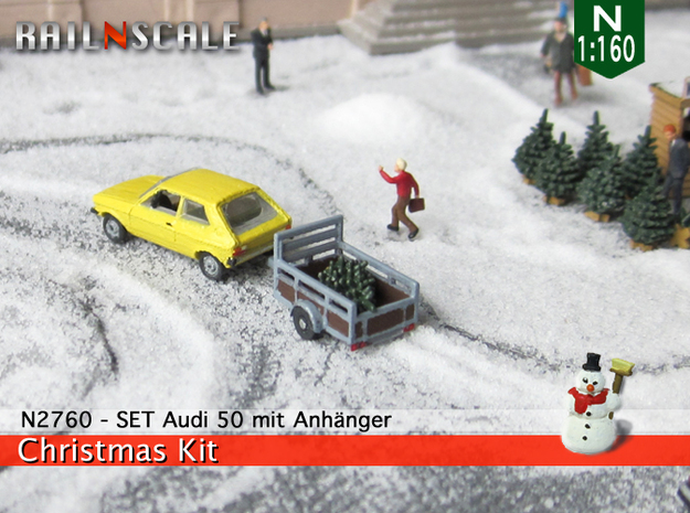 SET Shopping for a christmas tree (N 1:160) in Smooth Fine Detail Plastic