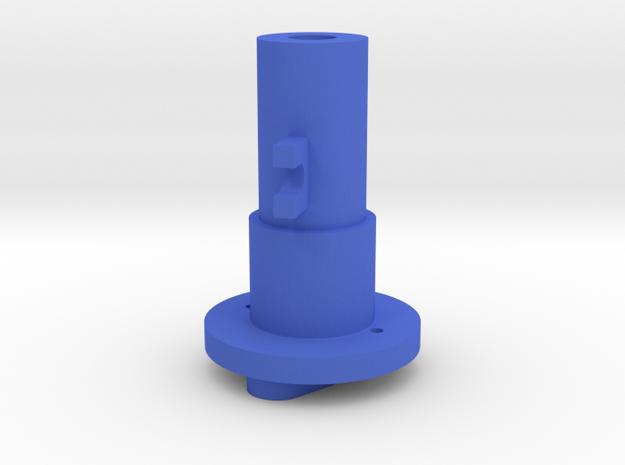 Thrustmaster joystick tailpiece 15° offset in Blue Processed Versatile Plastic