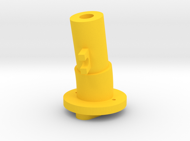 Thrustmaster tailpiece, 13° ang. 15°off. in Yellow Strong & Flexible Polished