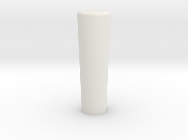 Round Shifter Standard in White Natural Versatile Plastic