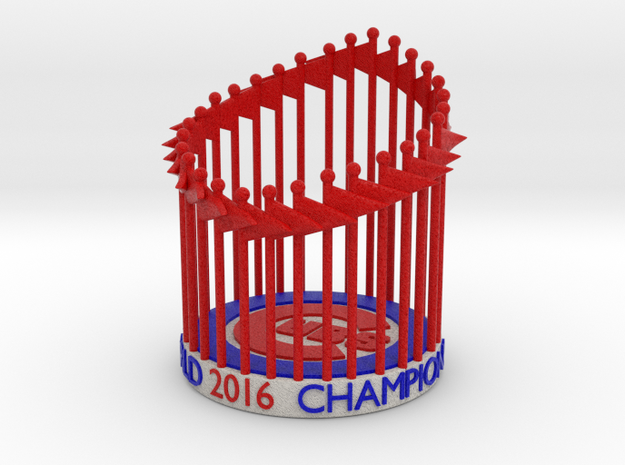 Cubs World Series Trophy 2016 Figurine, Ornament in Full Color Sandstone