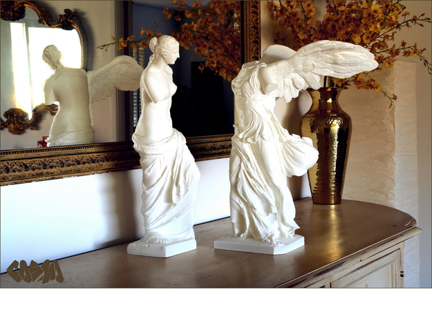 "Winged Victory (10"" tall) 3d printed Venus de Milo and Winged Victory (19.4"" and 20"" versions shown. Venus de Milo not included)"