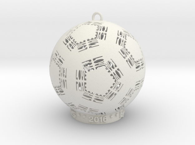 Love Creator Ornament in White Strong & Flexible