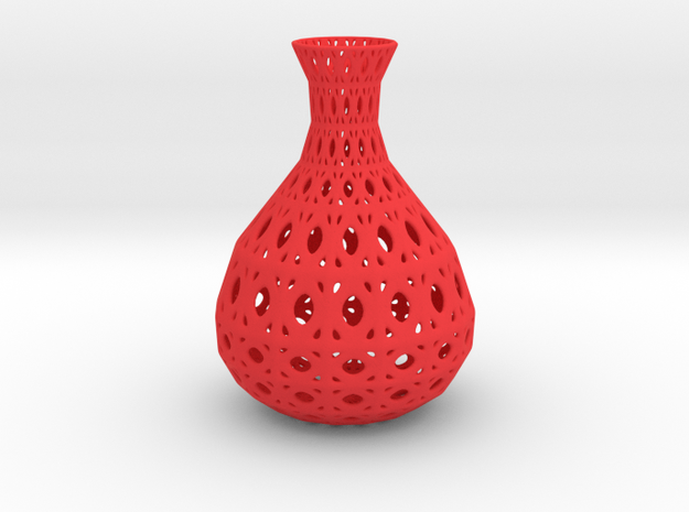Vase Wire Pattern in Red Processed Versatile Plastic