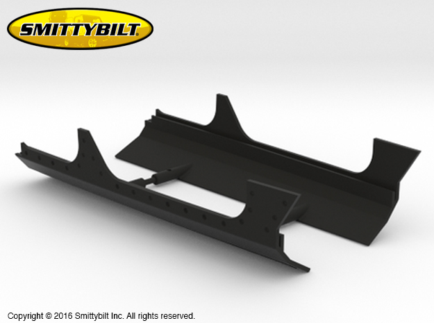AJ10039 Smittybilt XRC body cladding in Black Strong & Flexible