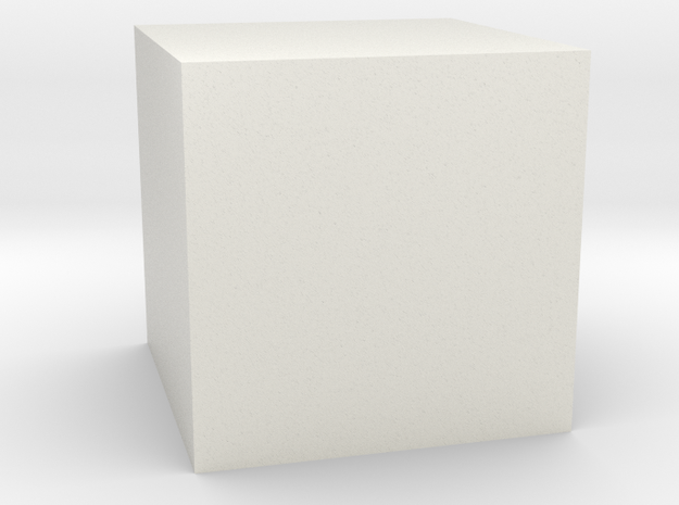 Cube Shape in White Natural Versatile Plastic