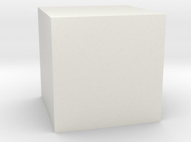 Cube Shape in White Natural Versatile Plastic