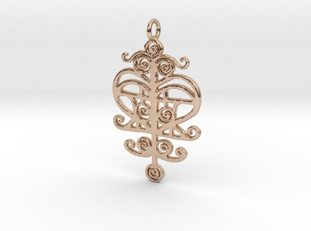 ERZULIE V3 Pendant in 14k Rose Gold Plated Brass