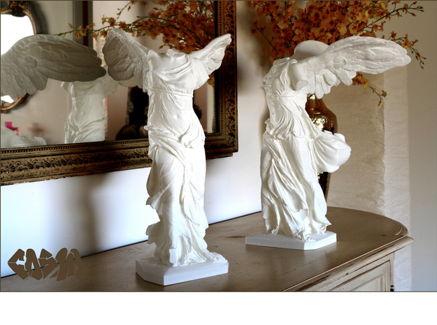 "Winged Victory (5"" tall) in White Strong & Flexible"