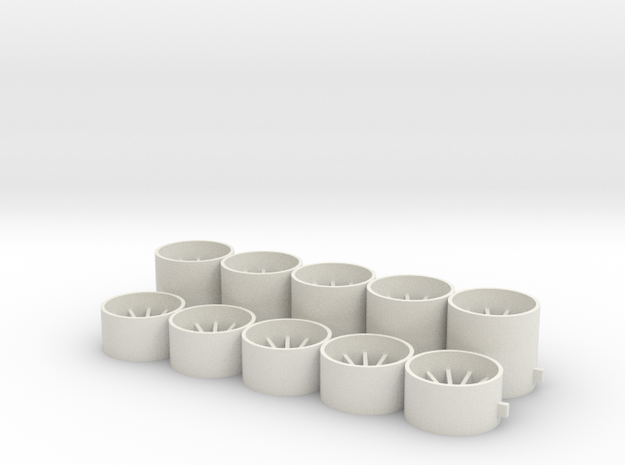 15x8x238 U 15x14x238 in White Natural Versatile Plastic
