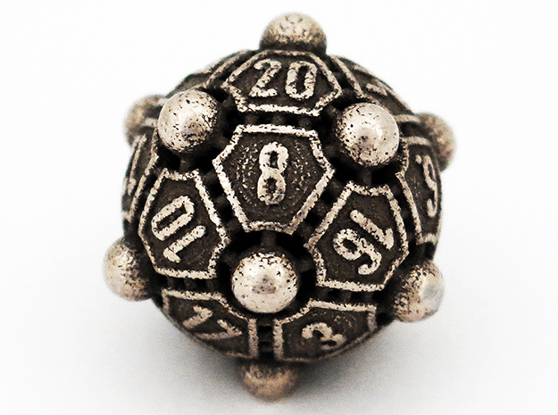 Nucleus D20 XL in Polished Bronzed Silver Steel