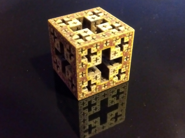 Jerusalem cube in Full Color Sandstone