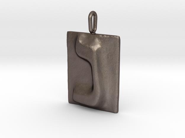14 Nun Pendant in Polished Bronzed Silver Steel
