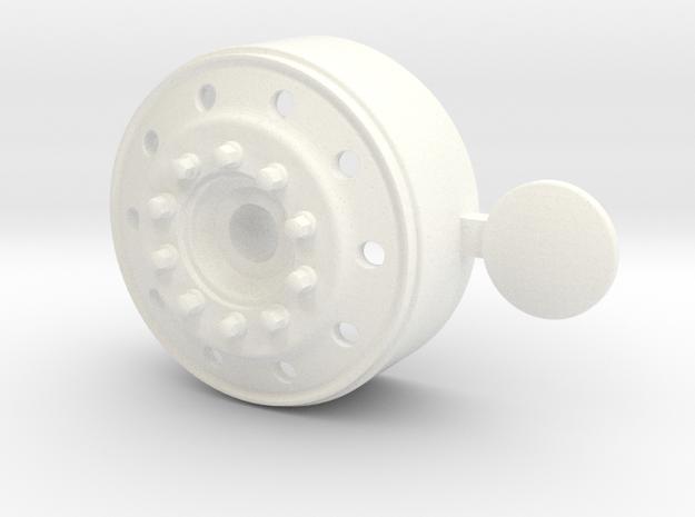 1/24 us truck ALOCA front wheel for italeri truck in White Processed Versatile Plastic: 1:24