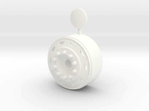 1/24 peterbilt front wheel for italeri us truck  in White Processed Versatile Plastic: 1:24
