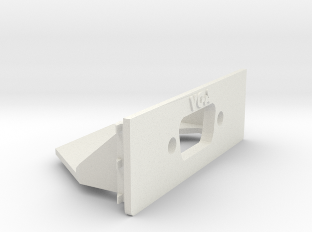 A1200 Rear Expansion VGA Casemount in White Natural Versatile Plastic