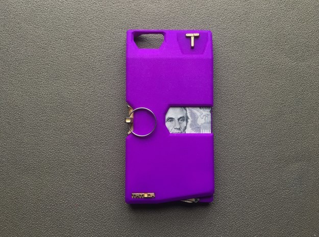 Iphone 6/7 PLUS Case  in Purple Processed Versatile Plastic