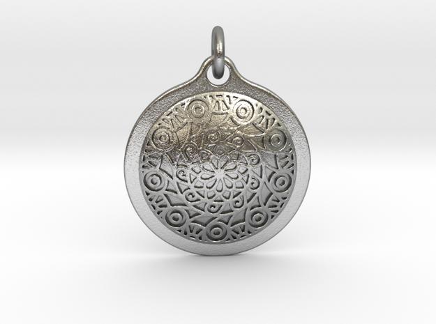 Mandala80 in Interlocking Raw Silver