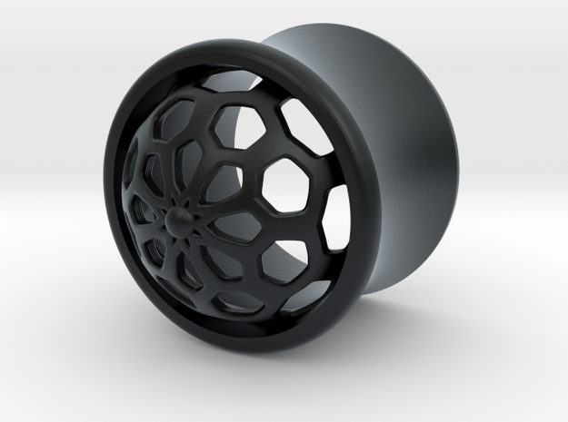 VORTEX1-12mm in Black Hi-Def Acrylate