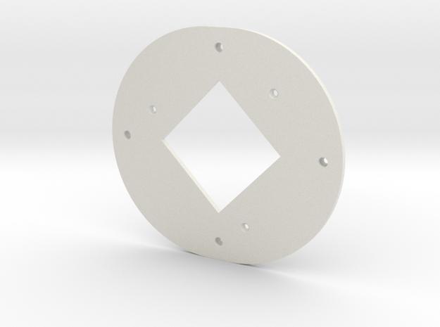 ALPHA, BAFFLE in White Natural Versatile Plastic
