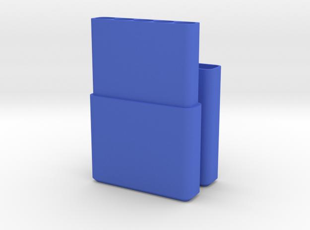 Cigarette Box / Holder in Blue Processed Versatile Plastic