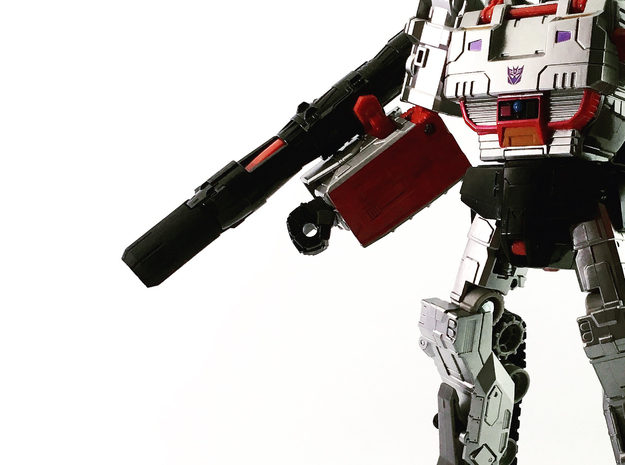 CW Leader Megatron Fusion Cannon Muzzle in White Strong & Flexible Polished