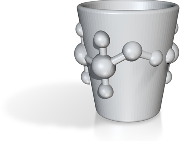 Alcohol (Ethanol) Molecule Shot Glass 3d printed