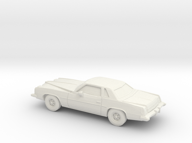 1/64 1973 Pontiac Grand Prix in White Natural Versatile Plastic