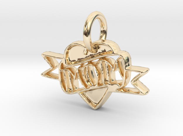 Mom Pendant in 14k Gold Plated