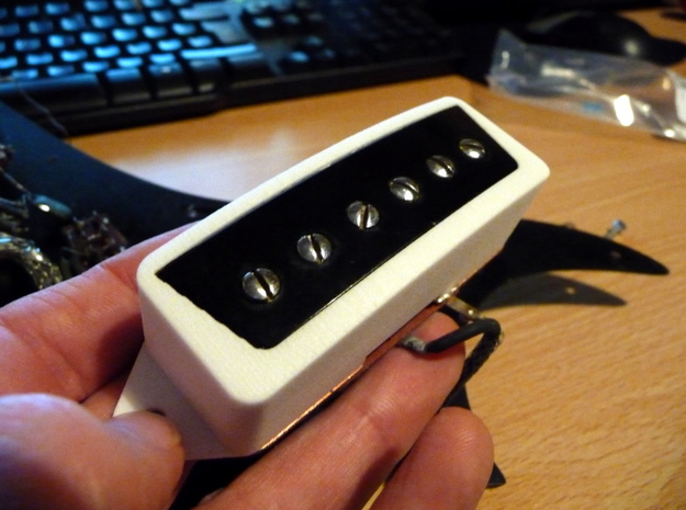 Epi ET270 Pickup Surround 3d printed Surround shown fitted to Epiphone ET270 pickup (for illustration purposes)