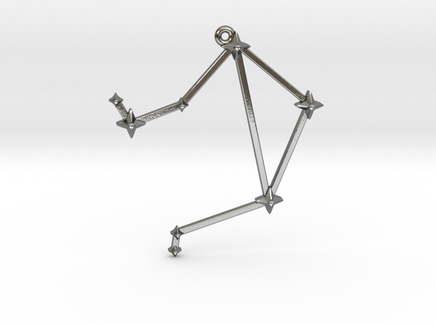 The Constellation Collection - Libra in Polished Silver