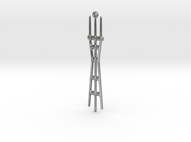 Sutro Tower in Natural Silver