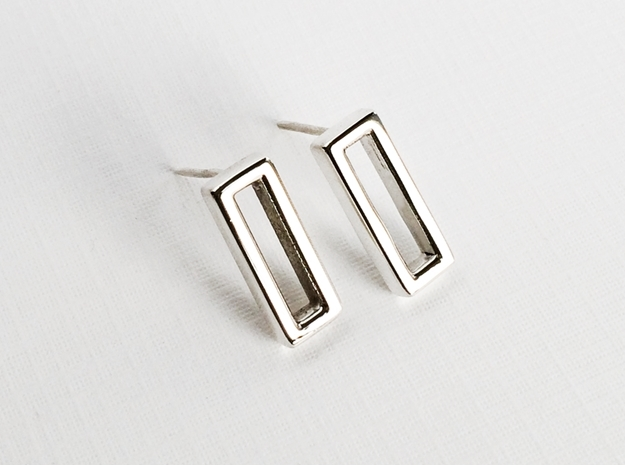Minimalist Post Earrings, Rectangular Studs