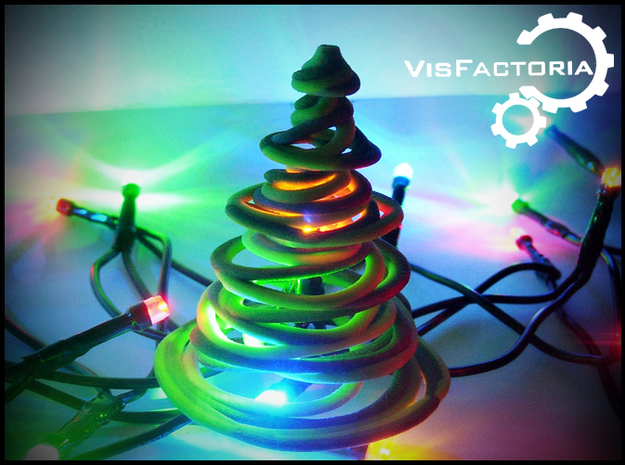 Color Swirling Christmas Tree
