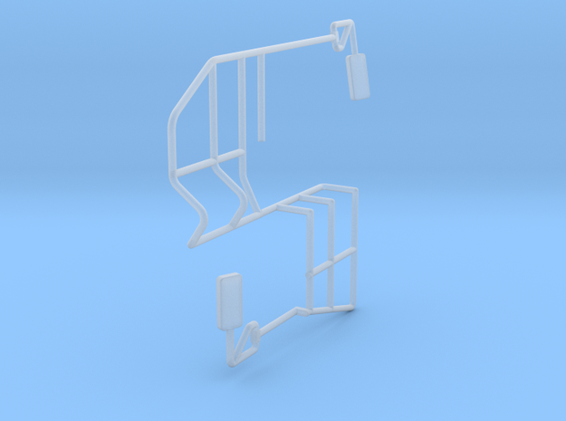 Swather Rails And Mirrors in Smooth Fine Detail Plastic