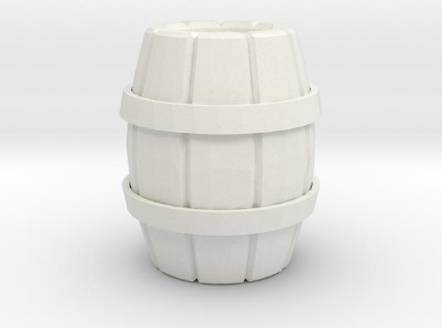 One Wooden Barrel 3d printed