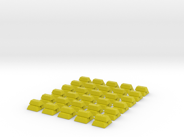Gold Replacements for Tzolk'in, Set of 30 3d printed