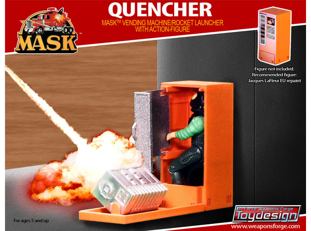 M.A.S.K. The Quencher - Silver Parts in White Processed Versatile Plastic