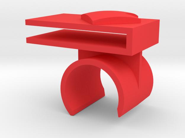 Left Tray Mount in Red Processed Versatile Plastic