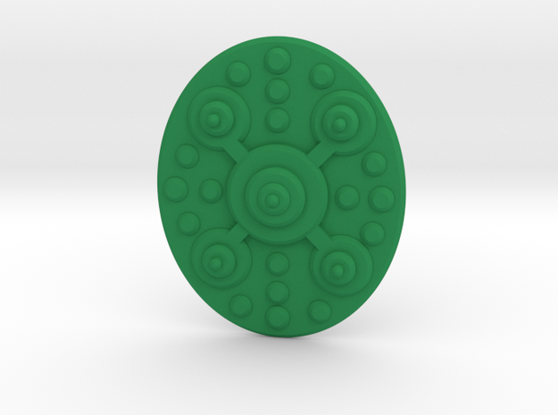 TEWOJ Barbarian Shield. in Green Processed Versatile Plastic
