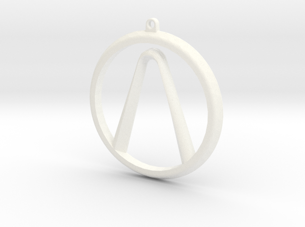 Borderlands Logo in White Strong & Flexible Polished