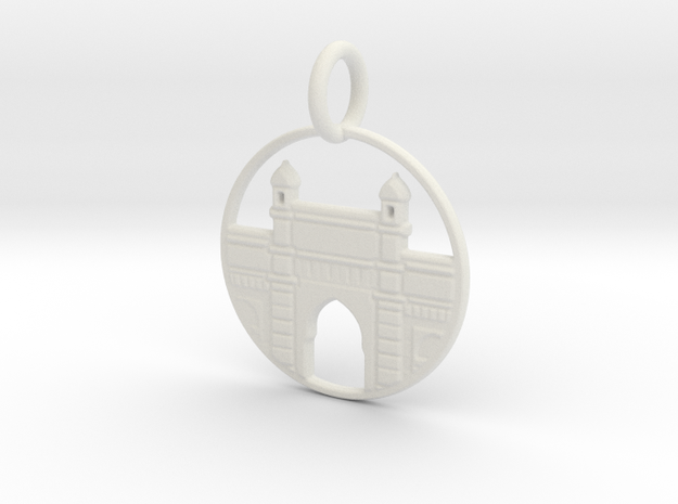 Gateway Of India in White Natural Versatile Plastic