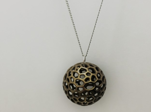 The Moon in Polished Bronze Steel: Small