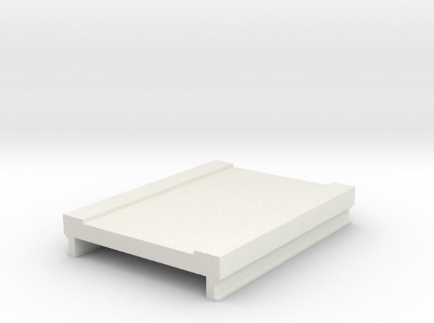 60mm Bridge Deck in White Natural Versatile Plastic