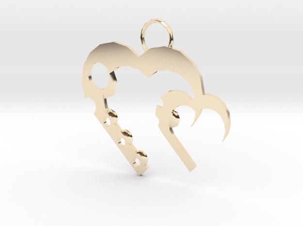 Alicias Hearts in 14K Gold: Medium