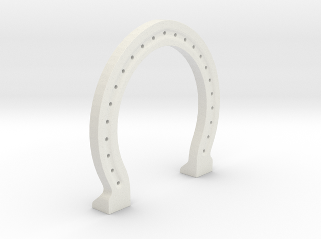 Horse Shoe ~Ambidextrous~ in White Strong & Flexible