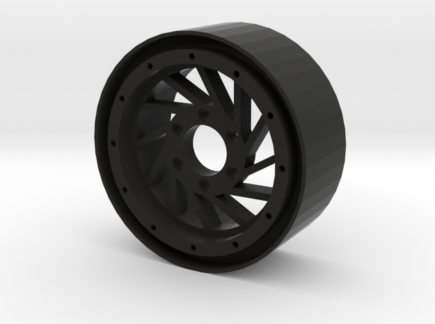 "1.9"" Hurricane beadlock wheel Right twist in Black Strong & Flexible"