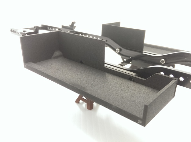 CMAX+D90 RC4wd RIGHT Battery Tray in Black Natural Versatile Plastic