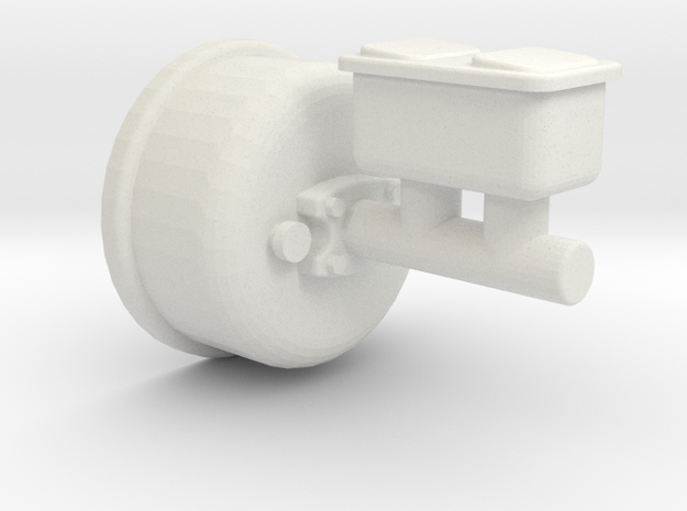 1/10 scale Crawler Brake Booster in White Natural Versatile Plastic