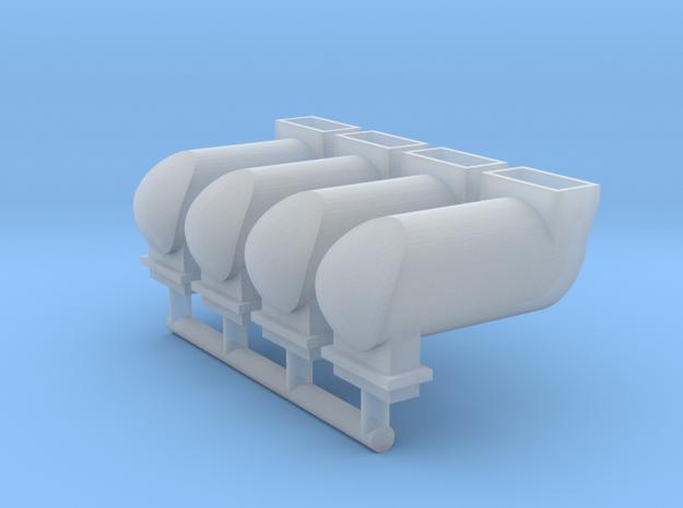 MILW GP/SD/F Exhaust Spark Arrestor (N - 1:160) 4X in Smoothest Fine Detail Plastic